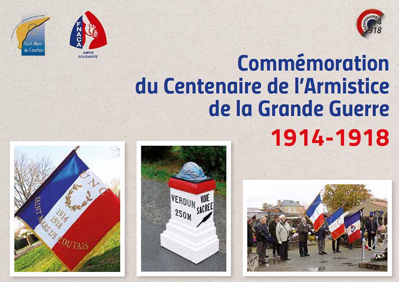Commémoration centenaire de l'armistice à Saint Mars de Coutais