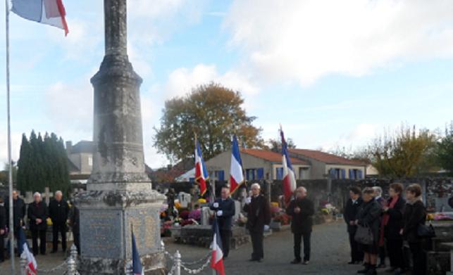 cimetière Saint Mars de Coutais - lors d'une commémoration