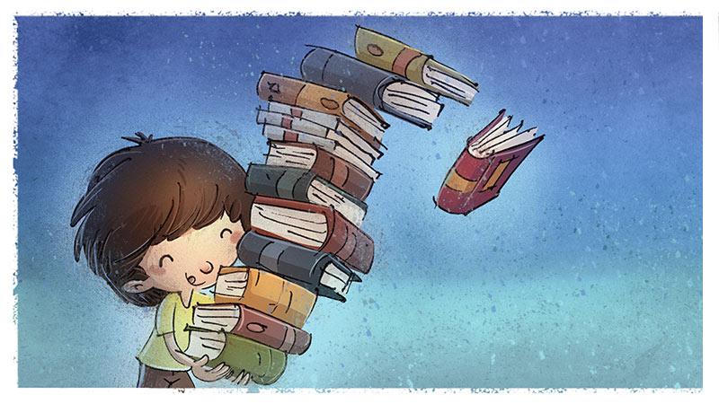 St Mars de Coutais bibliothèque lecture aux petits