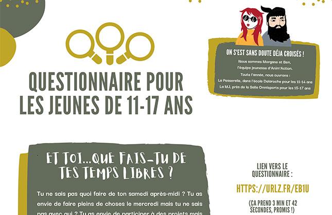 Questionnaire Jeunes St mars de coutais 44680