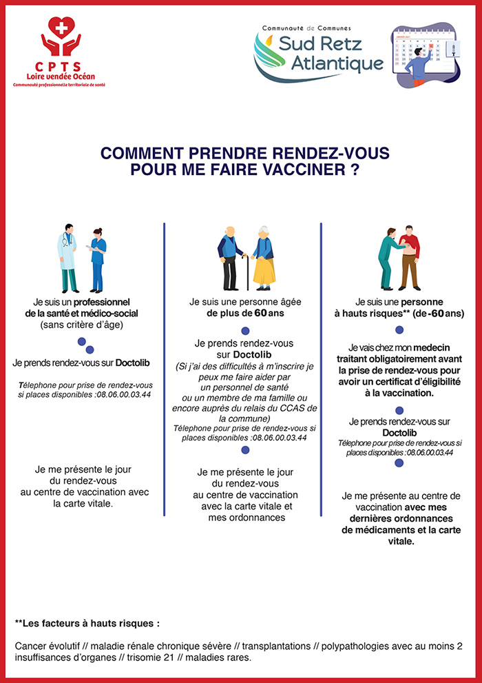 Comment prendre rdv vaccin st mars de coutais