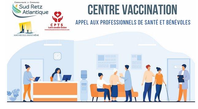 Recrutement pour le centre de vaccination de Machecoul